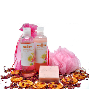 Rose Geranium Bath Set Mellow Skincare