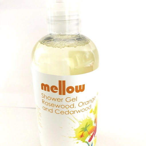 Rosewood Orange and Cedarwood Shower Gel Mellow Skincare