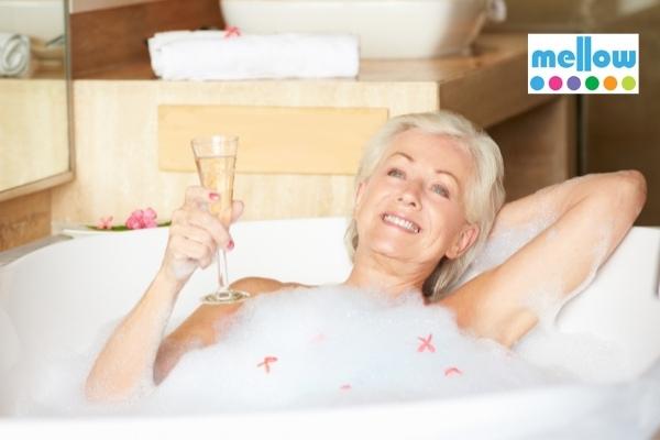mellow skincare bath and shower range soak